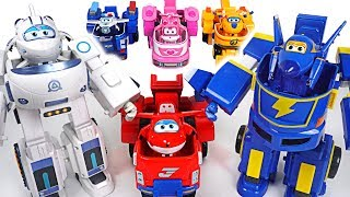 Bad Dinotrux destroy the village! Go! Super Wings transform robot suit Astra, Jerome! - DuDuPopTOY