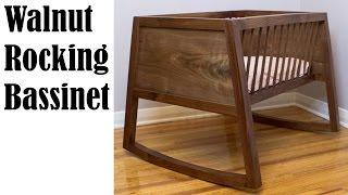 Rocking Walnut Bassinet (Baby Cradle)