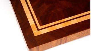 Making a multiple frame end grain cutting board  (Торцевая разделочная доска с несколькими рамками)