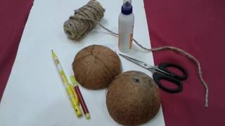 How to make tabla using Coconut shell | Best out of waste