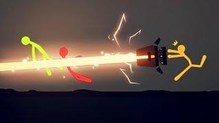 EXTREME LASER STICK FIGHT BATTLE! (Stick Fight #2)