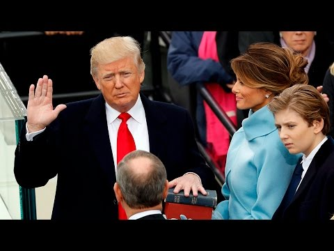 watch Donald Trump sworn in as 45th president of United States