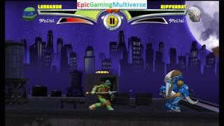 Ripperrat VS Leonardo In A Power Rangers VS TMNT Ultimate Hero Clash 2 Match / Battle / Fight
