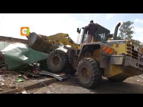 Kiosks demolished in Ngara to pave way for PSVs stage
