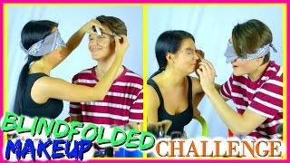 BLINDFOLDED MAKEUP CHALLENGE ft. Anty