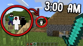 I Found NULL, HEROBRINE & ENTITY 303 On This CREEPY Minecraft World At 3:00 AM...