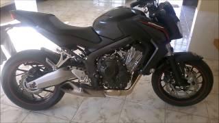 CB650F   MOSTRANDO A MOTO,ESCAPE E TUDO MAIS