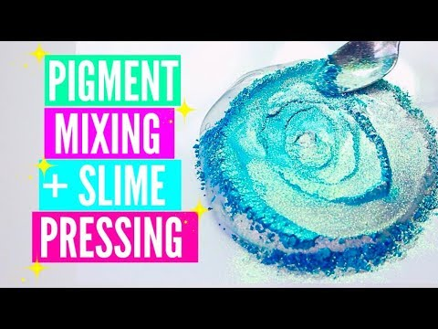Pigment Slime Mixing Slime Pressing Slime Bubble Popping Satisfying Slime ASMR Video Compilation
