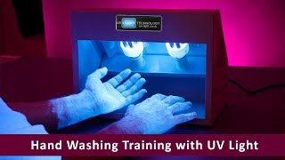 Hand Washing Training with UV Light