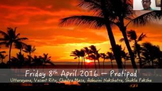 Friday 8th April 2016: Chaitra Shukla Pratipada