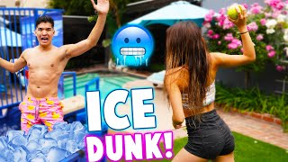 Freezing Ice Bath Dunk Tank Challenge!