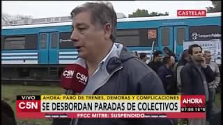 C5N - Paro de trenes: La situación en el ferrocarril Sarmiento