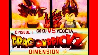 LEGO DRAGONBALL Z    EPISODE 1    GOKU VS VEGETA  (Stop motion )
