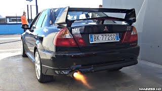 Mitsubishi Lancer EVO VI with Anti-Lag System! - LOUD Backfires!