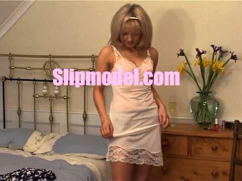 Girl showing her slip