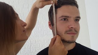 ASMR Real Face Measuring & Sticky Tape *Tingly Sounds & Visuals*