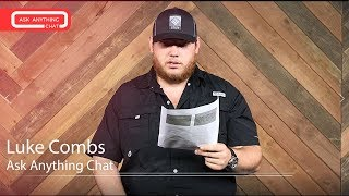 Luke Combs Talks About Mark Walhberg, Eric Church & Baseball Caps.  Part 1