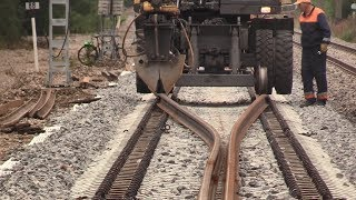 Капитальный ремонт ж.д. часть 7/8 - Замена инвентарных рельсов / Track repair 7/8 - Changing rails
