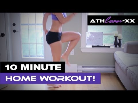 10 Minute HOME Workout for Women - NO Equipment Needed!