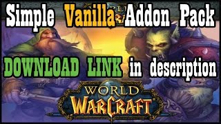 Basic UI/Addons Pack for Vanilla WoW 1.12 (Download in video description)