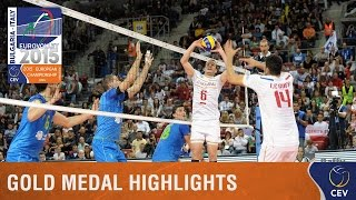 2015 Men's EuroVolley - Highlights Gold medal match France vs Slovenia