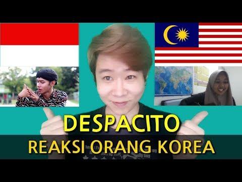 REAKSI ORANG KOREA MENDENGAR DESPACITO(INDONESIA & MALAYSIA)