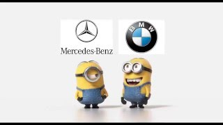 Mercedes - Benz vs BMW Funny Minions ( Full HD ) New verison !