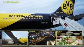 Turkish Airlines A321 Borussia Dortmund Business Class to Bahrain! [AirClips full flight series]