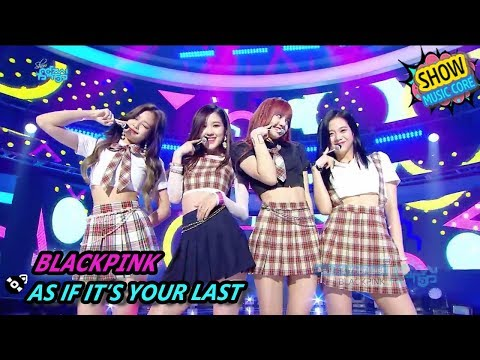 [HOT] BLACKPINK - AS IF IT'S YOUR LAST, 블랙핑크 - 마지막처럼 Show Music core 20170812