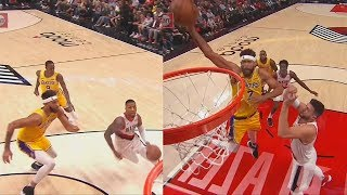 Javale McGee SHUTS DOWN Damian Lillard Then Shows Off Dunks in Lakers Debut! Lakers vs Blazers