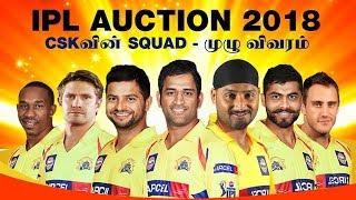 Chennai Super Kings 2018 | IPL 2018 CSK | Final Squad | LIVE
