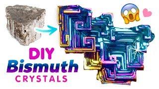 DIY RAINBOW BISMUTH CRYSTALS!! Make