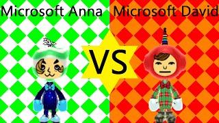 Microsoft Anna VS. Microsoft David