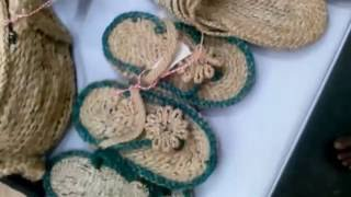 New model shoes made by jute