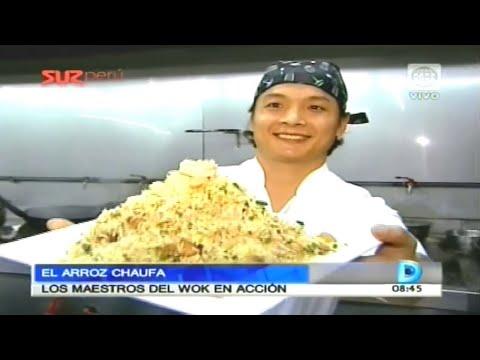 El arroz chaufa Los maestros del wok en acción