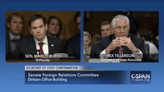 Download Sen. Marco Rubio questions Rex Tillerson (C-SPAN) 3Gp Mp4