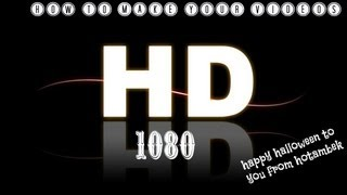 How To make your Videos 1080 HD on Vegas Pro