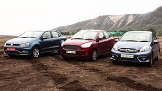 Honda Amaze vs VW Ameo vs Figo Aspire