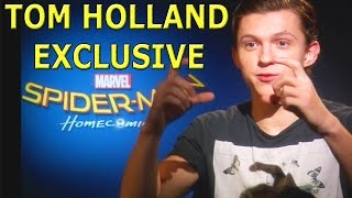 Tom Holland bumps into a naked fan!