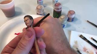 "How to paint a 6"" 1/12 scale custom Star Wars Head"