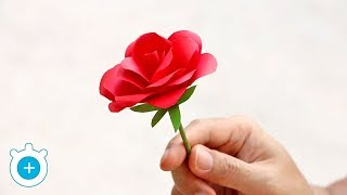 How to Make Paper Rose Flower - Easy!