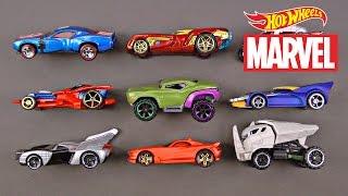 Hot Wheels Marvel Superhero Cars Trucks for Kids Toy Super Heroes Street Vehicles for Children