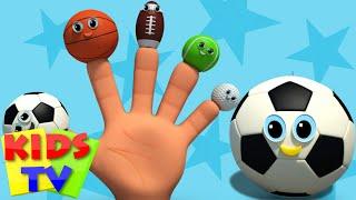 sports ball finger family | nursery rhyme | kids songs | baby videos