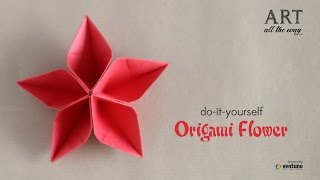 How to Fold DIY : Origami Flower