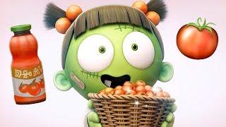 Funny Animated Cartoon | Spookiz Kebi Eats Poisonous Tomatoes | Cartoon for Children