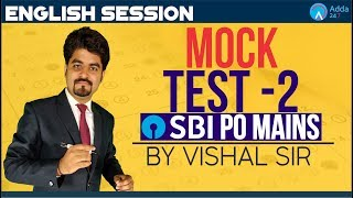 SBI PO MAINS   MOCK PAPER 2 FOR SBI PO MAINS  ENGLISH   Vishal sir