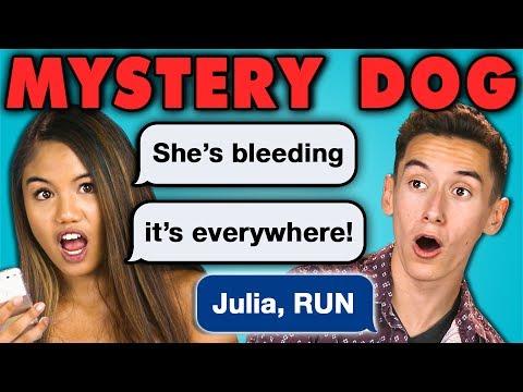 TEENS READ MYSTERY DOG Creepy Horror Texts React