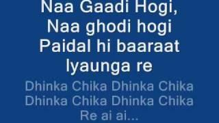 DHINKA CHIKA LYRICS ON SCREEN ♥ READY 2011 HD HQ