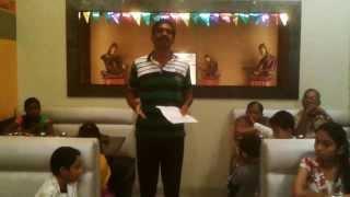 AYAAN'S NAMING CEREMONY -MURALI'S SPEECH