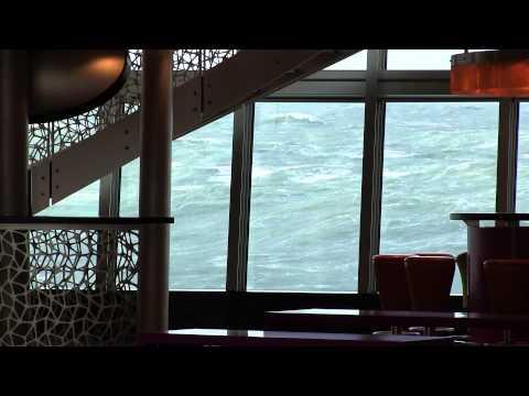 AIDAsol auf der Nordsee im Orkan Xaver